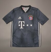 NWOT Bayern Munich Third 2018 2019 Football Soccer Shirt Adidas Youth Size L Kit