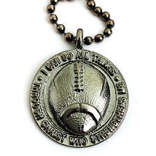 Phil 4:13 Football Necklace Gunmetal Color Finish  (sp7gnbc)