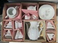 Vintage Childs Coffee Set 17 pieces Coffee Pot, 6 Cups & Saucers, Cream & Sugar