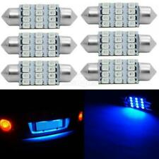 6x Blue C5W LED License Plate Lights 36mm Festoon Bulbs 12-3528-SMD LED