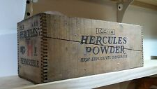 VINTAGE Hercules Powder High Explosive Dynamite Wooden Box Crate Dove Tail