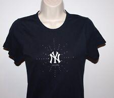 New York Yankees Campus Lifestyle Women's Medium Blue Bling Shirt