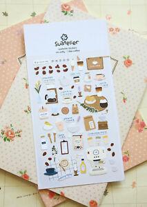 I Like Coffee Suatelier Stickers cute diary journal planner scrapbook sticker