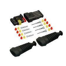 Amp Superseal maschio set 4 pin 0,75-1,50 con becchi CAMION AUTO BARCA sensore