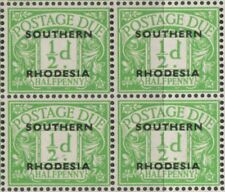 Southern Rhodesia  block of 4 overprint postage due stamps MNH