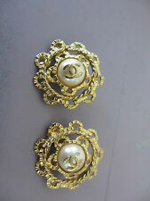 Authentic Chanel vintage  clip on earrings