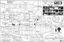 Línea de control Mig 3 modelhob planes de modelo de escala