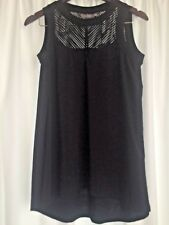 Sussan Ladies Black Sleeveless Top Size XS