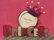 Pink & Purple Glittered PRINCESS Picture Frame Crown & Gems by Spoontiques  NEW
