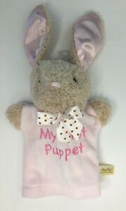 """DAN DEE Pink """"MY FIRST PUPPET"""" BUNNY RABBIT PLUSH TOY 8.5"""" Collector's Choice"""