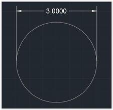 "1pc Acrylic Plastic (plexiglass)  Round  Sheet  - 1/8"" x 3""  Circle  -  Clear"