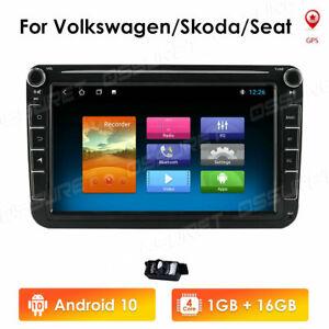 "8"" Autoradio Android 9.1 GPS Navi USB Für VW GOLF 5 6 PASSAT Touran Tiguan Polo"