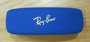 Ray-Ban Hard Shell Designer Sunglass Case, Blue, Red Interior