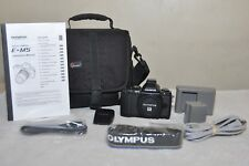 Olympus OM-D E-M5 - Black (Body Only) + Extra - Low Clicks - MINT CONDITION!!