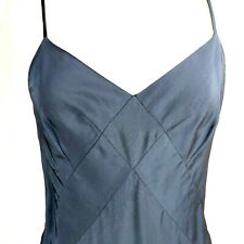 Club Monaco 4 XS Bias Cut Viscose Rayon Slip Dress Womens  Blue Womens