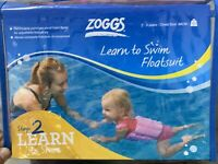 Zoggs Learn To Swim Stage 2 Float Suit 2-3 Years Kids Swimming Aid Pink Toddler