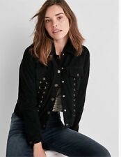 Lucky Brand Women Lace Up Suede Jacket Size M
