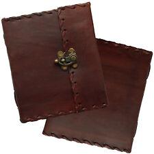 """6"""" Vintage realizzata a mano in vera pelle Journal Diary Sketchbook blocca carta fatto a mano"""
