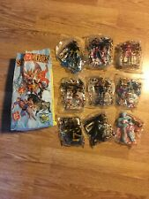 Jack in the Box Kids Meal Toys 2001 DC Superheroes Complete Set of 9 w/ Bag RARE