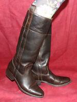Wrangler Vintage LEDER DAMEN BIKER BOOTS STIEFEL 38 Echtleder leather boots UK5