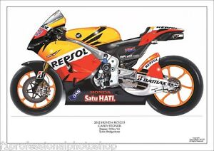 Casey Stoner ltd.ed. art print/250 2012 Repsol Honda