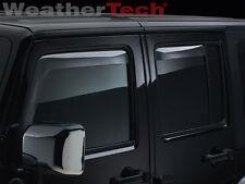 WeatherTech Side Window Deflectors for Jeep Wrangler Unlimited 2007-2018 Light