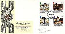 1 MARCH 1988 WELSH BIBLE ROYAL MAIL FIRST DAY COVER PLYMOUTH DEVON FDI