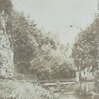 Buxton Chee Dale Stepping Stones Upper Wye Valley River Gorge Stereoview G90