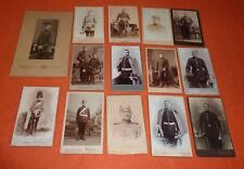 Soldaten 14 Militaria Fotos vor 1900 Offiziere mit Pickelhaube und Säbel etc.
