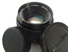 Minolta MC Rokkor-PF 50mm f/1.7 Prime Camera Lens Fits Minolta MD Mount
