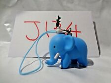 Japanese Blue Elephant with Bird Cell Phone Strap Figure Japan J134 J136