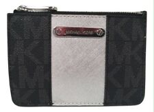 New Ladies Michael Kors 'Metro Centre Stripe' Black and Silver Purse