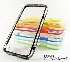 Funda Bumper TRANSPARENTE Samsung Galaxy NOTE 2 - Varios colores Carcasa