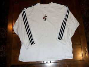Cleveland Cavaliers White adidas XL Long Sleeve Shirt Stitched Shoulder Stripes