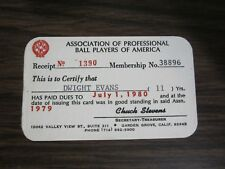 Dwight Evans MLB Players Association Membership Card Boston Red Sox