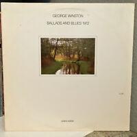 "GEORGE WINSTON - Ballads & Blues 1972 (LL 81) - 12"" Vinyl Record LP - EX"
