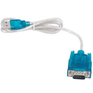 Adapter USB 2.0 auf COM Port (RS232) Seriell DB9 9 Pin Kabel 80cm bis Windows 10