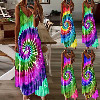 Plus SIze Women Strappy Boho Long Maxi Dress Summer Holiday Beach Party Sundress