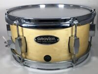 """Grover Pro Percussion Snare Drum 12 X 6"""" Birds Eye Maple Natural Lacquer"""