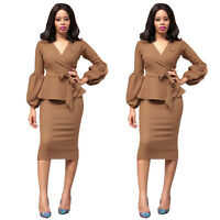 Sexy Womens Long Sleeves Bandage Bodycon Dress Club Party Cocktail Mini Dresses
