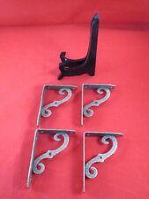 Vintage Copper Colored Shelf Corbels Shelf Brackets & Black Wooden Easel