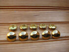 lot 10 boutons bombés uni métal doré couleur or 25 mm