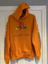 Official Playstation Mens Orange Hoodie Size Medium BNWT