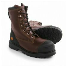 """Timberland Pro Caprock 8"""" Alloy Toe Zip Up Work Boots Men's Size 11 Wide"""