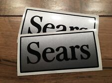 "Sears Silver & Black Decal For Attachment To Craftsman Tractors 1970's 2""x4""pair"