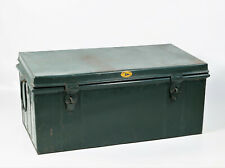 malle cantine en métal CONGO STAR Made in Belgium vintage 40's 50's trunk belge