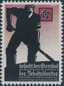 Stamp Replica Label Germany 0370 WWII German People Working Hard Labor MNH