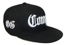 Black White Compton OG Los Angeles Flat Bill Retro Snapback Cap Caps Hat Hats