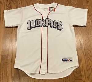Lehigh Valley Iron Pigs Majestic Phillies AAA MLB MILB NWT Jersey Size Large