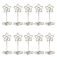 10pcs Wedding Card Holder Banquet Party Table Number Stand Place Name Clip Base